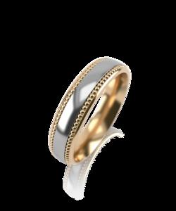 Кольцо обручальное красное золото Рельефное