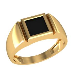 Печатка красное золото Квадрат оникс