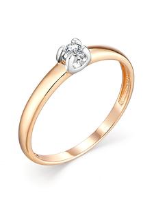 Кольцо красное золото Картье бриллиант