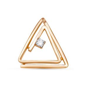 Подвес красное золото Треугольник фианит