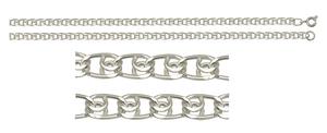 Цепь серебро Ромб Двойной d120 полновес