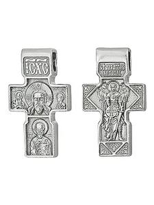 Крест серебро Архангел Михаил