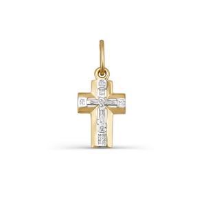 Крест красное золото Фантазия