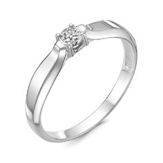 Серьги серебро Круг бриллианты