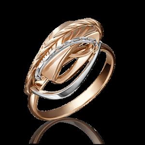 Кольцо красное золото Фантазия