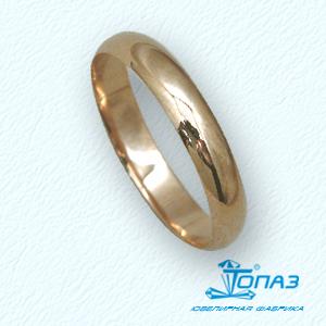 Кольцо обручальное красное золото Классическое