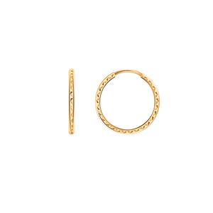 Серьги конго красное золото алмаз. грань d17