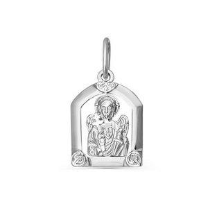 Икона красное золото Ангел Хранитель фианит