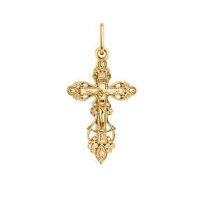 Крест красное золото Ажурный