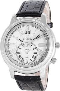 Часы Nika Ego серебро кварцевые ремень черный 20мм