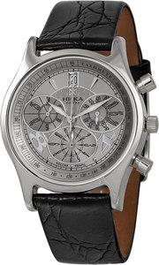 Часы Nika Ego серебро кварцевые ремень черный 18мм
