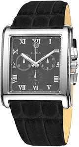 Часы Nika Априори серебро кварцевые ремень черный 26мм
