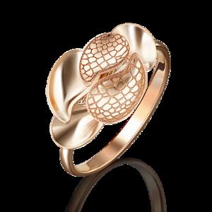 Кольцо красное золото Флора