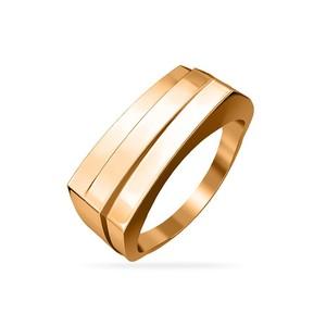 Кольцо красное золото Геометрия