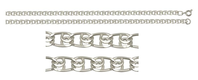 Цепь серебро Лав d050 полновес