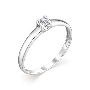 Кольцо Классическое белое золото Фантазия бриллиант