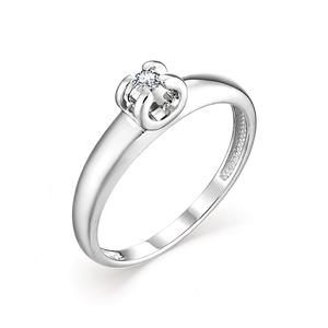 Кольцо Классическое белое золото Классический бриллиант