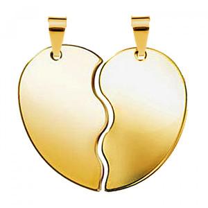 Жетон золотая сталь Половинки сердца