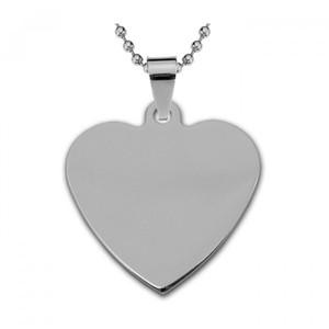 Жетон серебряная сталь Сердце