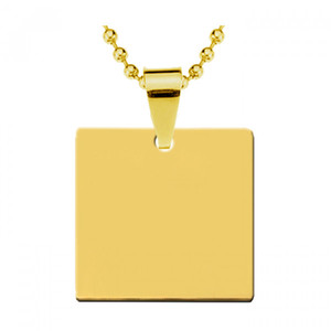 Жетон золотая сталь Квадрат