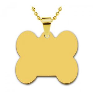 Адресник золотая сталь Кость