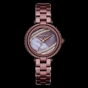 Часы MIKHAIL MOSKVIN Elegance кварцевые на браслете коричневый, фианиты