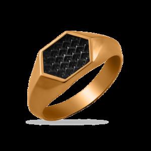 Печатка красное золото Ромб шипы