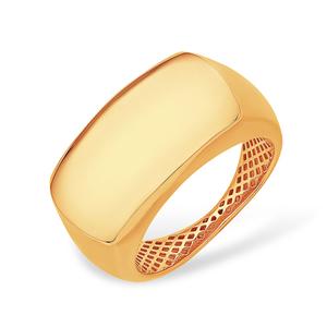 Кольцо красное золото Гладкое облегченное