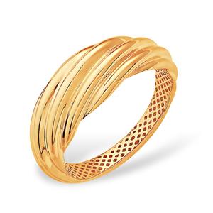 Кольцо красное золото Рельеф облегченное