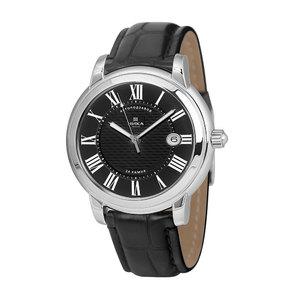 Часы Nika серебро механические ремень черный 20мм