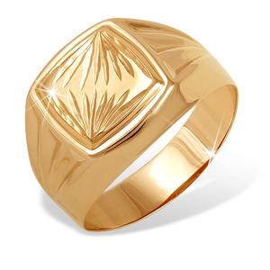 Печатка красное золото Квадрат