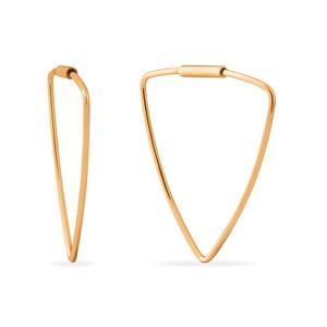 Серьги-конго красное золото Треугольник