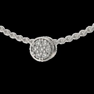 Подвеска-бегунок серебро Круг фианиты