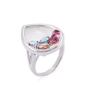 Кольцо серебро Фантазия Перламутр Фианит