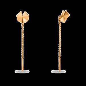 Серьги протяжки красное золото Геометрия