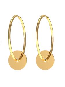 Серьги конго красное золото Круг d20 гладкие