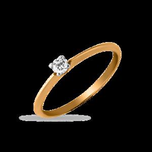 Кольцо белое золото помолвочное фианит