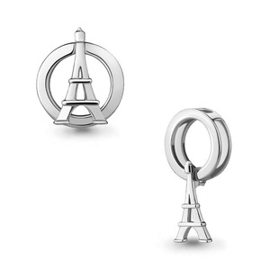 Подвеска бегунок серебро Эйфелевая башня