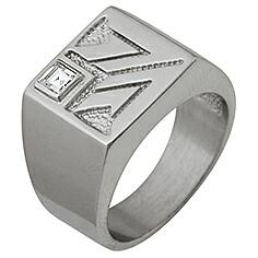 Печатка серебро Квадрат фианит