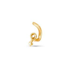Пирсинг в нос красное золото Венера