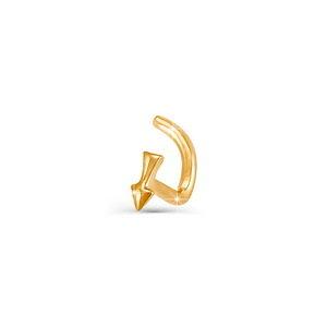 Пирсинг в нос красное золото Стрела