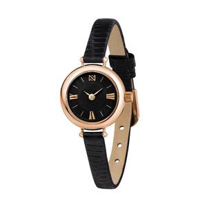 Часы Nika VIVA золото кварцевые ремень чёрный 6мм