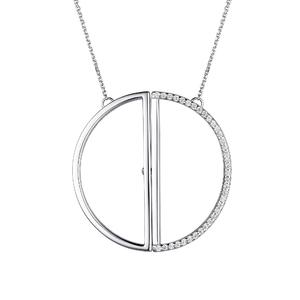 Колье серебро Круг фианиты
