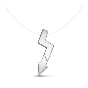 Колье на леске серебро Стрела