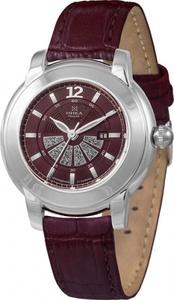 Часы Nika серебро кварцевые ремень красный 16мм