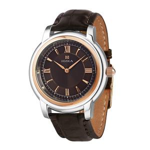 Часы Nika Ego биметалл кварцевые ремень чёрный 19мм