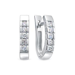 Серьги белое золото Дорожка бриллиант