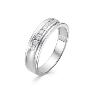 Кольцо белое золото Дорожка бриллиант