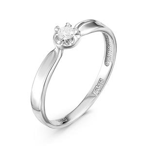 Кольцо белое золото Классический бриллианты