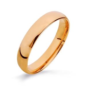 Кольцо обручальное красное золото Комфорт
